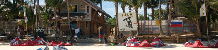 Isla Kitesurfing center in Boracay, Philippines/Asia
